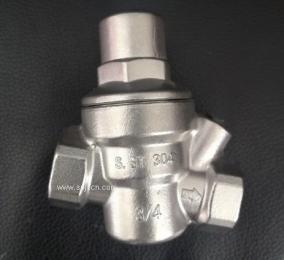 DN20带压力表可调式减压阀 全不锈钢可调式减压阀