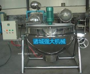 诸城夹层锅 带搅拌夹层锅 电加热夹层锅