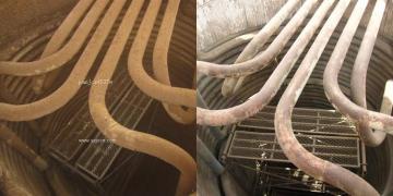 西安加氢装置加热炉对流室炉管干冰清洗