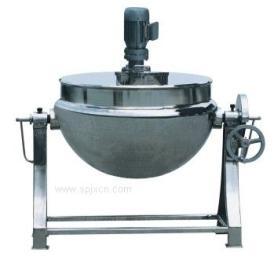 电加热夹层锅 可倾斜蒸汽加热夹层锅 立式导热油夹层锅
