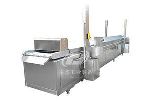 辽宁厂家直销泰杰TJ-5000薯片油炸生产线 鸡米花油炸机 麻花油炸设备