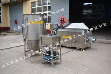 面食类膨化食品油炸机,全自动馓子油炸机