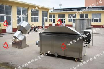 保定牛肉丝油炸机 燃气自动搅拌油炸机