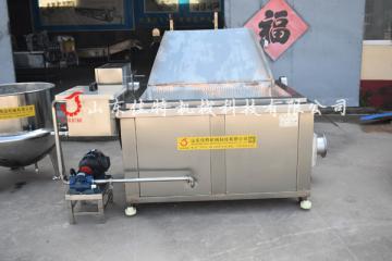 四川牛肉丸子油炸机 连续式油炸机