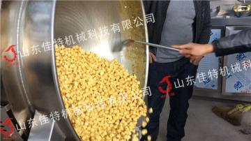 新型爆米花搅嗤拌炒锅 连续式爆米今天花机