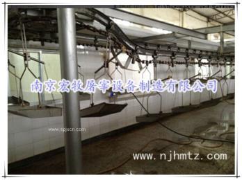 猪屠宰设备|同步卫检线|悬挂内脏输送设备
