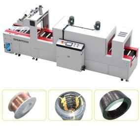 全自動袖口式(焊絲圓型  線軸類)封切收縮包裝機