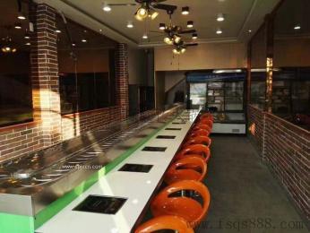 佛山南海生产直销餐厅家具回转火锅设备 旋转火锅 自助旋转麻辣烫