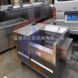 HK-1200红凯机械鱼类去鳞机毛棍连续海鱼清洗机滚筒洗鱼机