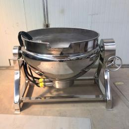 300L牛肉电加热蒸煮锅 驴肉可倾式夹层锅