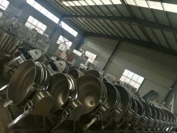 600L食品厂卤煮蒸煮夹层锅 环保节能型电加热锅