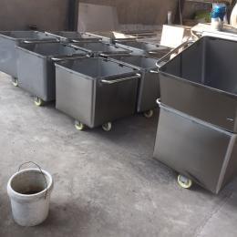 200L食品厂辅助肉料车 肉筒车
