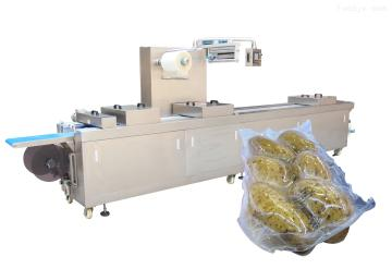 DZL-420R新鲜蔬菜全自动拉伸膜真空包装机