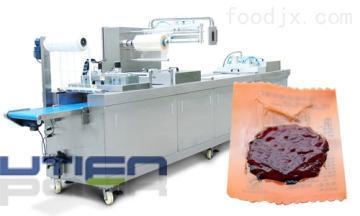 DZL-420R佑天元供應全自動豬肉鋪拉伸膜真空包裝機