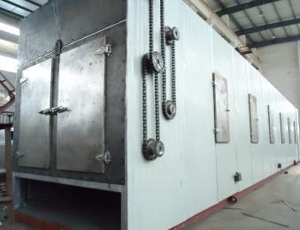 树脂湿颗粒七层带式干燥机设备