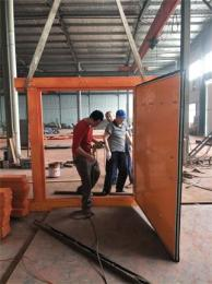 swm2.2*2.5竹膠板行人風門、竹制行車風門阻燃抗靜電