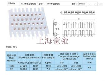 多种可选平格型塑料网带图片