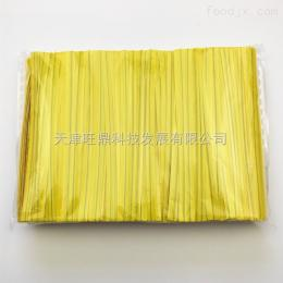 4mmx8cm黄色裁断品优质PET扎丝彩带面包糕点包装袋捆扎扎口扎带
