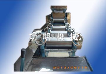 180型功明云吞皮机,仿手工馄饨皮机,荣誉可靠