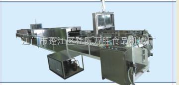巧克力半涂机WSS-2011万胜食品机械  手指饼巧克力半涂生产线WSS-2011