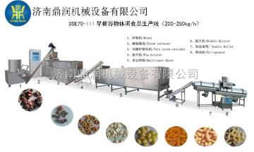 双螺杆食品膨化机械、休闲食品加工设备
