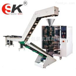 SK-200B果冻外袋颗粒包装机械 多功能半自动链斗式包装机
