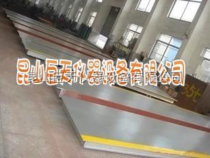 常熟100吨3乘10米电子地磅秤维修,100T电子汽车衡在维修