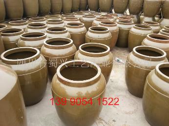 供应多种规格发酵罐200斤粗陶发酵缸,300斤土陶发酵坛
