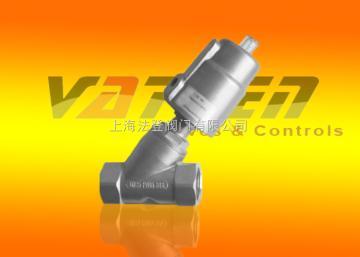 法登vatten气动Y型不锈钢角座阀、法兰式/螺纹式气动角座阀