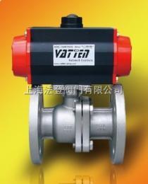 上海气动球阀生产厂家气动双作用法兰式球阀DN150 价格