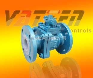 VT1BDF23F德国气动全衬球阀 气动耐腐蚀阀门 防腐气动球阀