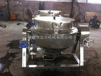 立尔机械供应大型食堂熬粥电加热导热油行星搅拌炒锅无死角
