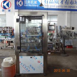 供应4头流量计亚麻油灌装机设备 橄榄油灌装设备