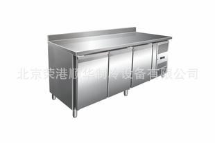 厨房设备厂家现货供应 厨房冰柜,厨房用冰柜,靠背操作台冷柜