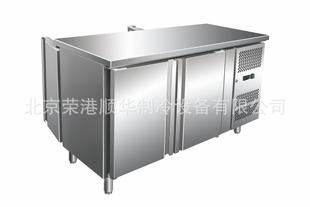 北京现货直销不锈钢冷藏柜,不锈钢厨房设备,GN双通柜