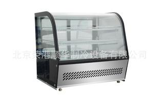 北京供应圆弧玻璃台式冷藏展示柜 冰箱冰柜 快餐厨房制冷设备