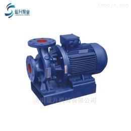 供应山东滨州ISW卧式管道泵循环增压泵