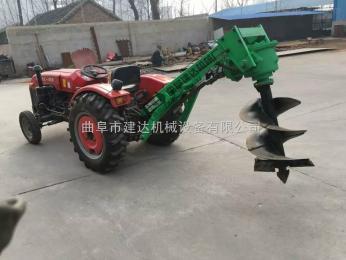 JK-1供应拖拉机挖坑机图片 挖坑机视频