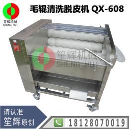 QX-608笙辉牌瓜果毛辊清洗脱皮机