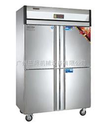 LDZ-1000L4D立式冷柜 双温立式厨房冷柜