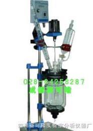 3升雙層玻璃反應釜-玻璃鋼反應釜-3L實驗室玻璃反應釜-成都賽可隆