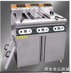 博业三缸三筛立式电炸炉