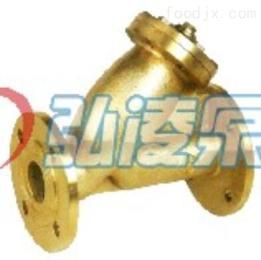 SG41W-16T黄铜法兰水过滤器,Y型黄铜过滤器,法兰水过滤器
