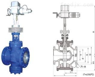 YS945Y电动蒸汽减压阀,高温电动减压阀,蒸汽减压阀