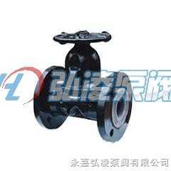 隔膜閥:EG41J-10英標襯膠手動隔膜閥