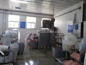 SKDJR100-300全自动冻肉绞肉机行情盐水火腿设备