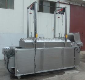 SDY-L3500休闲食品油炸机 连续式油炸机 炸猪排油炸生产线