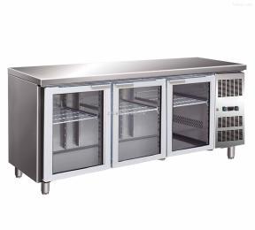 T0.4GFL2佛斯科玻璃门冷藏工作台 厨房卧式展示柜 烘焙操作台