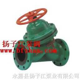 隔膜阀:G45J-6直流式衬胶隔膜阀