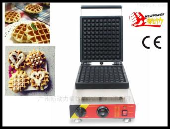 NP-521松饼机加厚格子Q饼机华夫饼烘烤小吃设备